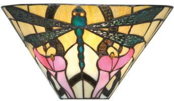 Ashton 305mm Tiffany Wall Lamp Art Nouveau Dragonfly