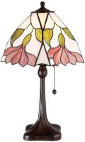 Botanica Medium Floral 1 Light Traditional Tiffany Table Lamp