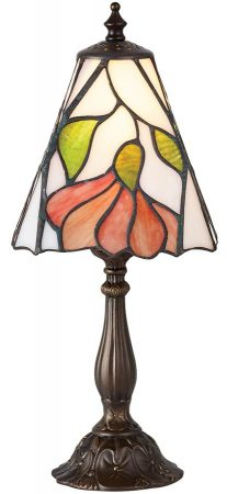 Botanica Small Floral 1 Light Traditional Tiffany Table Lamp
