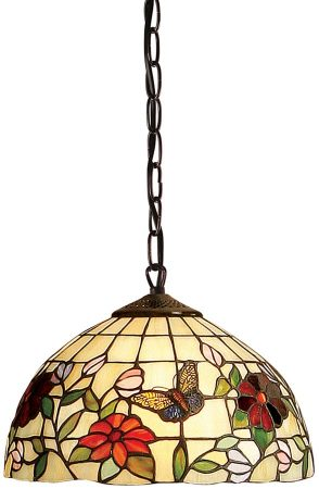 Butterfly Tiffany Ceiling Pendant Small Floral