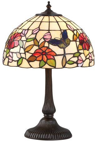 Butterfly Tiffany Table Lamp Small Floral Traditional