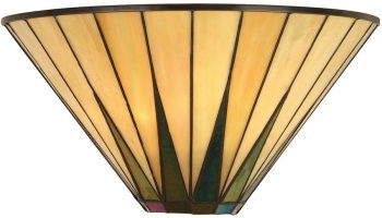 Dark Star Tiffany Wall Light Art Deco Design