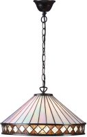 Fargo Large 1 Light Art Deco Style Tiffany Pendant Lamp