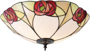 Ingram Art Nouveau Flush Tiffany Ceiling Light