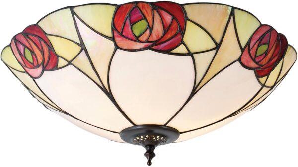 Ingram Art Nouveau Flush Tiffany Ceiling Light