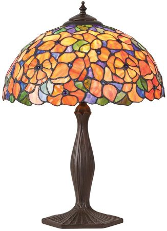 Josette Medium Floral 1 Light Traditional Tiffany Table Lamp