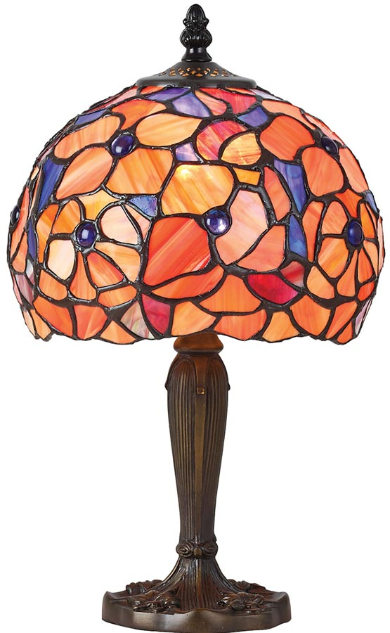 Josette small floral 1 light traditional tiffany table lamp 64210 josette small floral 1 light traditional tiffany table lamp mozeypictures Gallery