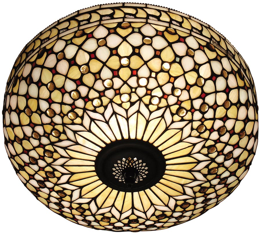 Mille feux large flush fitting 2 lamp tiffany ceiling light 64276 mille feux large flush fitting 2 lamp tiffany ceiling light mozeypictures Image collections