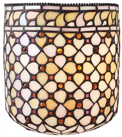 Mille Feux Flush Fitting Hand Made Tiffany Wall Light