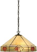 Nevada Art Deco Style Tiffany Ceiling Pendant Light