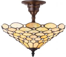 Pearl Iridescent 3 Lamp Medium Semi Flush Tiffany Light