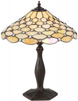 Pearl Iridescent 1 Light Medium Tiffany Table Lamp