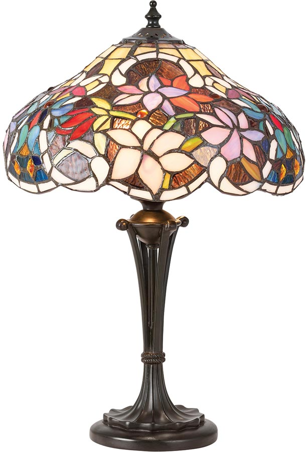 Sullivan floral tiffany table lamp small traditional 64327 sullivan floral tiffany table lamp small traditional mozeypictures Gallery