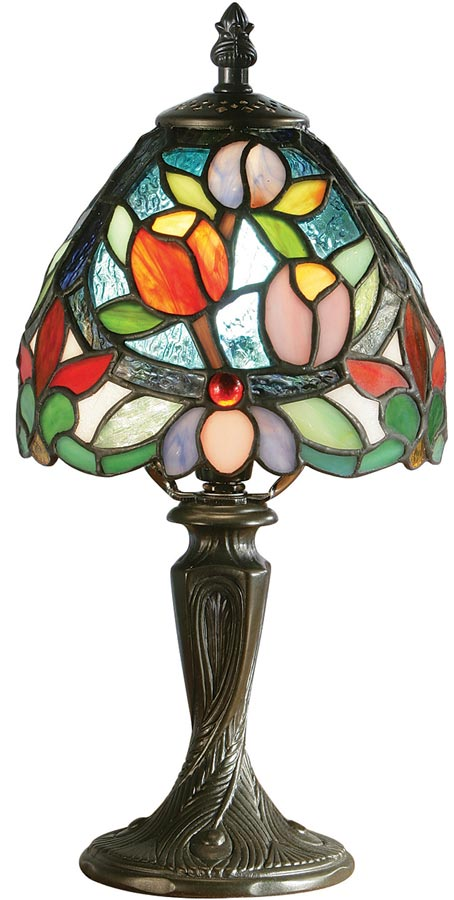 Sylvette Floral Traditional Mini Tiffany Table Lamp