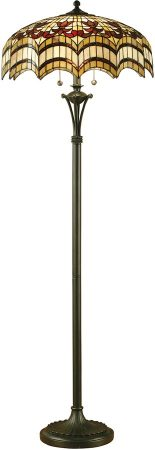 Vesta Feature Tiffany 2 Light Floor Lamp Standard