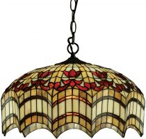 Vesta Medium Hand Crafted 3 Lamp Tiffany Pendant Light