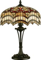Vesta Small 2 Light Feature Tiffany Table Lamp