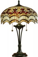 Vesta Medium 2 Light Feature Tiffany Table Lamp