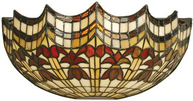 Vesta Hand Crafted Feature Scalloped Tiffany Wall Light