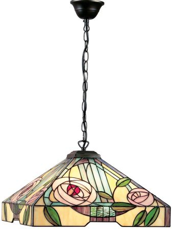 Willow Rose Design Large Tiffany 3 Light Pendant
