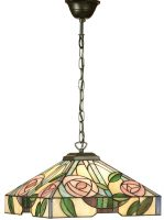 Willow Medium Tiffany Rose Pendant Light Mackintosh Style