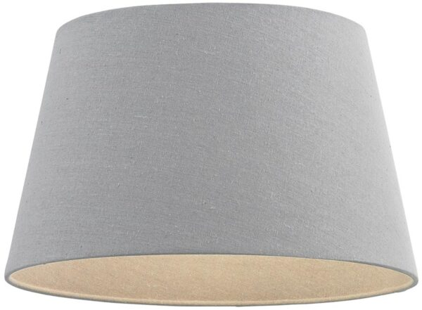 Cici Grey Fabric 8 Inch Wall Light / Small Table Lamp Shade