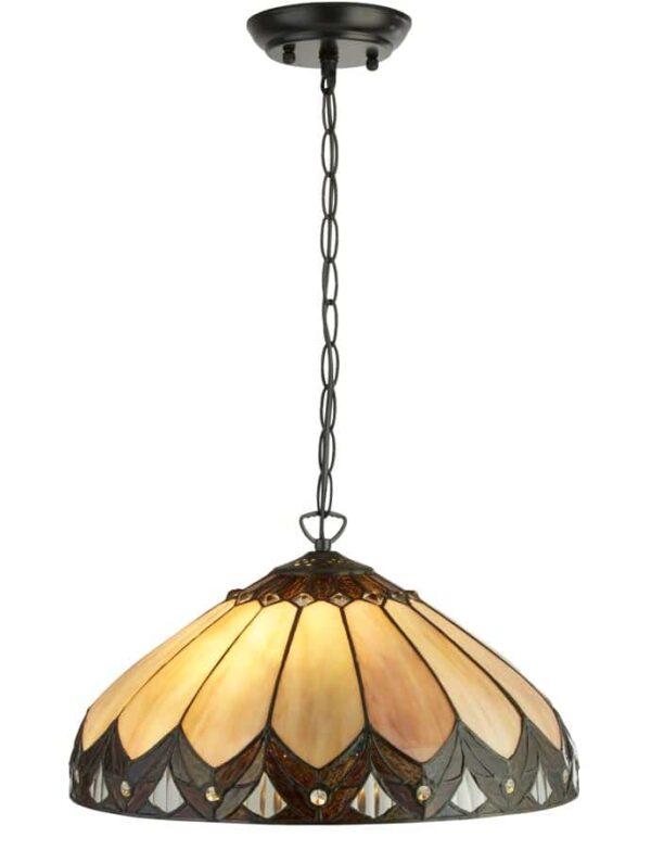 Pearl 2 light Tiffany pendant ceiling light