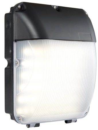 Lucca Matt Black 30w LED Bulkhead With Photocell IP44