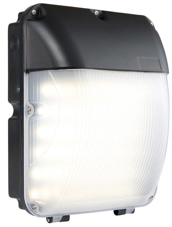 Lucca Matt Black 30w LED Bulkhead With Photocell IP44
