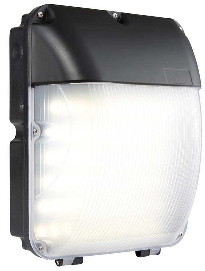 Lucca Matt Black 30w Led Bulkhead With Photocell Ip44 Universal Lighting