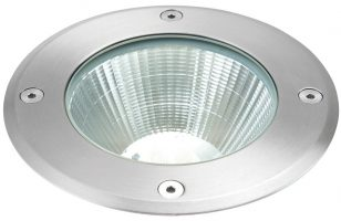 Ayoka 109mm Round Stainless Steel LED Walkover Light IP67