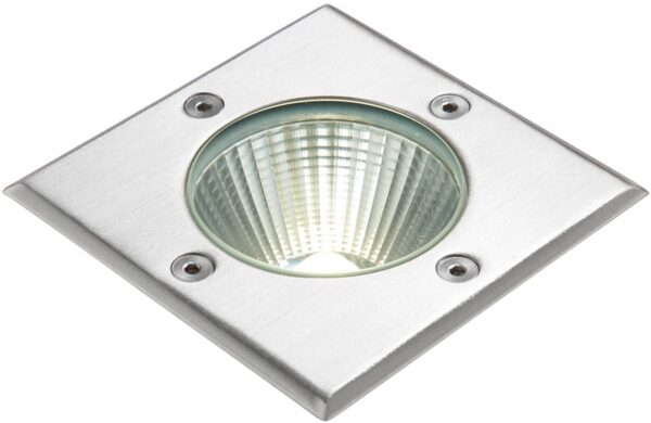 Ayoka 109mm Square Stainless Steel LED Walkover Light IP67