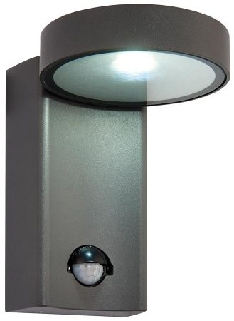 Oreti Modern Anthracite 10w LED Outdoor PIR Wall Light IP44