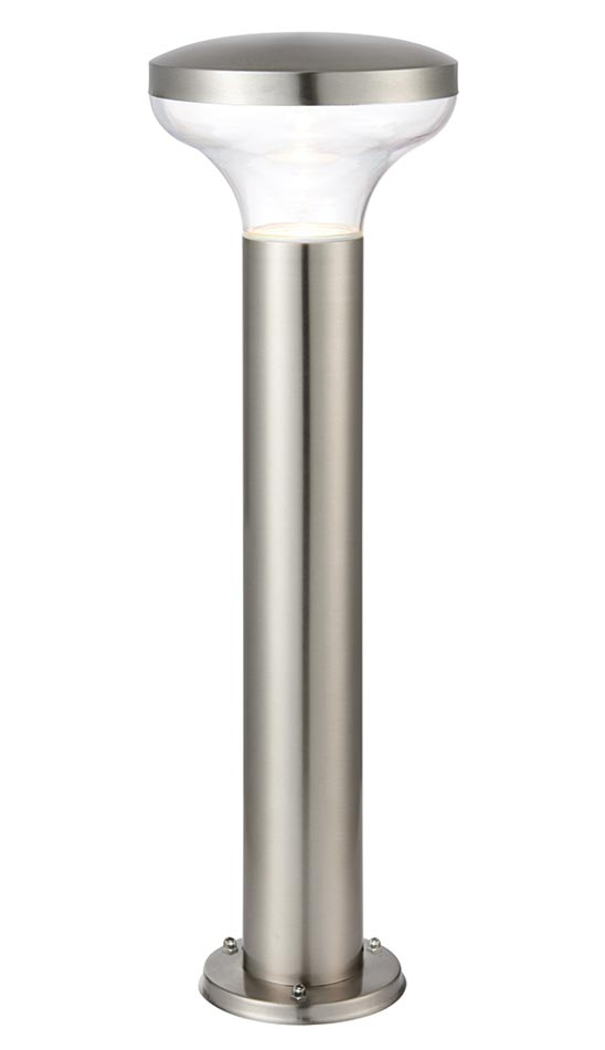 Roko 50cm outdoor post light in brushed 316 stainless steel IP44