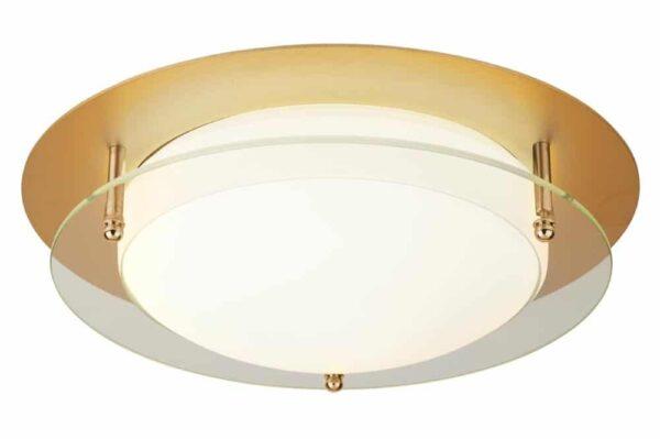 flush mount LED 38cm bathroom ceiling light gold IP44