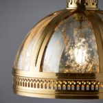 Vienna 1 Light Domed Ceiling Pendant Solid Brass Mercury Glass