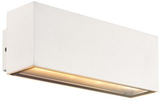 Kamala White 180mm 12w LED Outdoor Wall Light IP44