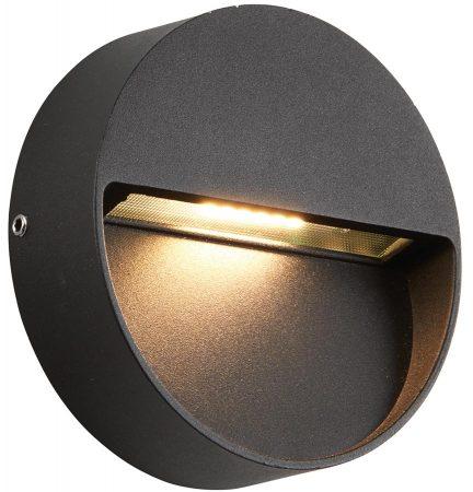 Tuscana Black Indirect Round 3w LED Outdoor Wall Light IP44
