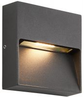 Tuscana Black Indirect Square 3w LED Outdoor Wall Light IP44