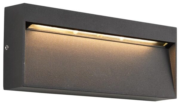 Tuscana Black Letterbox 6w LED Outdoor Wall Light IP44