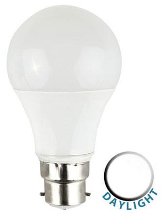 BC/B22 6W LED GLS Light Bulb 6500k Daylight White 500 Lumen