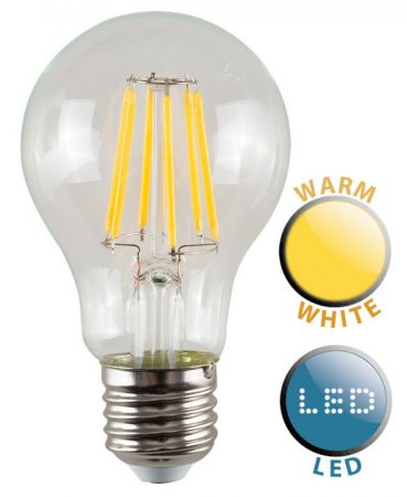 ES/E27 Filament 6w LED GLS Light Bulb Warm White 660 Lumen