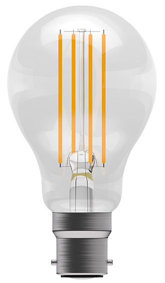 6w BC LED Dimmable Filament GLS Light Bulb 810lm Warm White