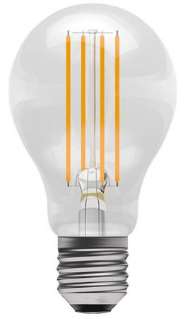6w ES LED Dimmable Filament GLS Light Bulb 810lm Warm White