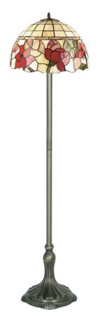 Border Rose Tiffany Floor Standard Lamp
