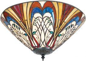 Hector Medium Art Nouveau Style 2 Lamp Flush Tiffany Light