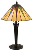 Dark Star Small Tiffany Table Lamp Art Deco Design