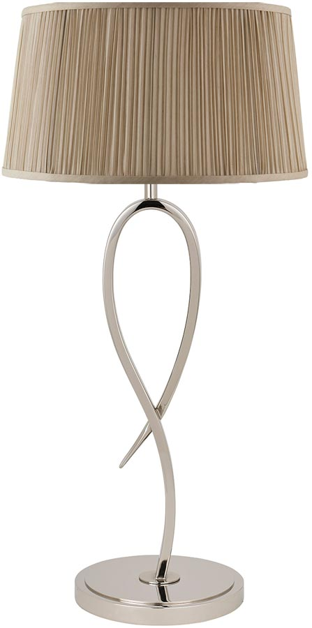 Penn Contemporary 1 Light Polished Nickel Table Lamp Base