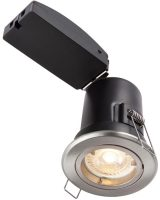 ShieldPlus Satin Nickel 4w LED Fire Rated Fixed Downlight
