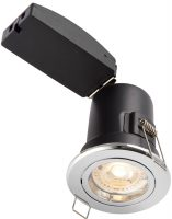 ShieldPlus Chrome 4w LED Fire Rated Fixed Downlight